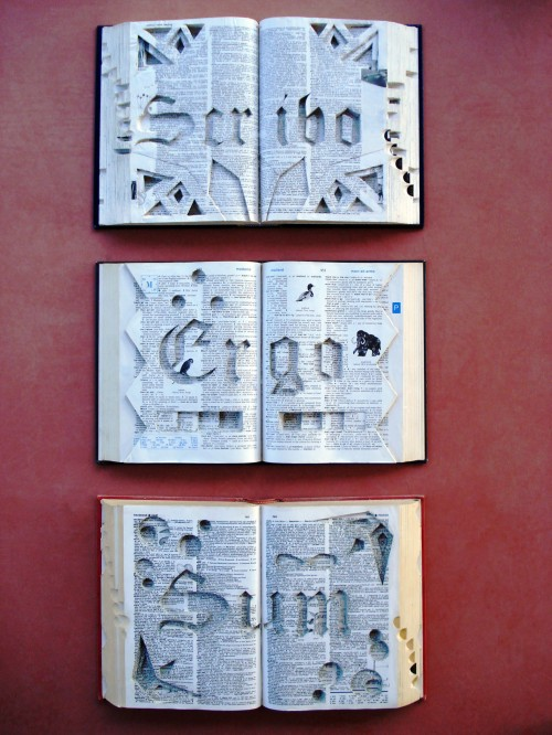 "[""Scribo Ergo Sum"" – The Page Smith, 2010, Altered Books]"