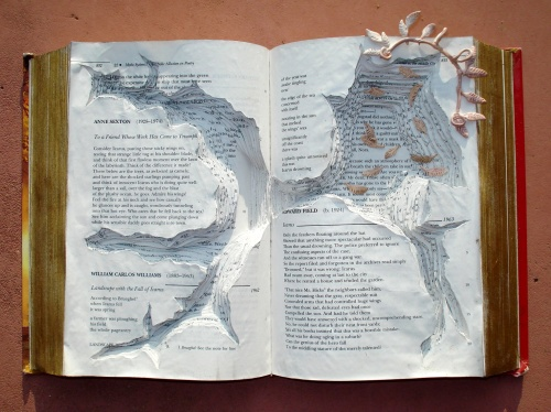 "[""Icarus Survives"" –The Page Smith, 2012, Altered Book]"
