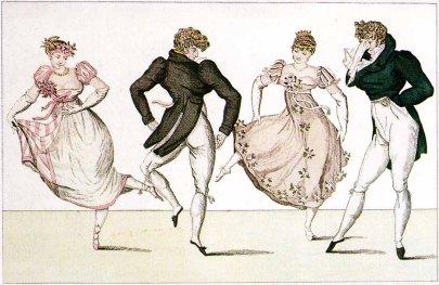 Lively Regency Dancing circa 1805