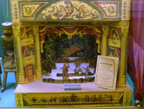 Toy Theatres originated in England in 1811.  This one is c. 1845